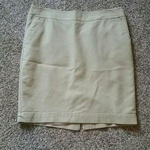 Merona khaki pencil skirt